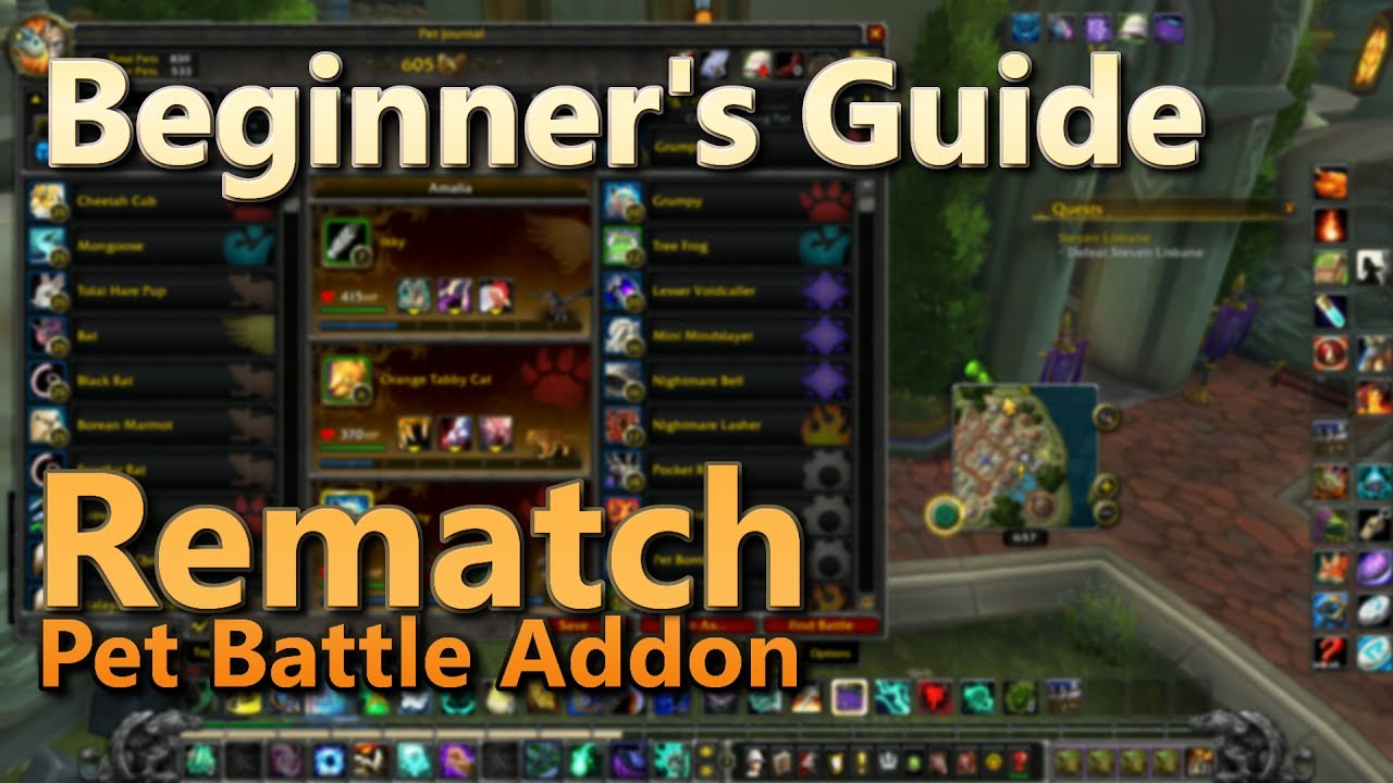 Beginners Guide To Rematch Pet Battle Addon
