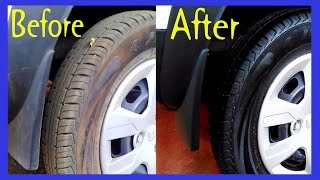Make Tires Super Black and Shiny, Renault Kwid - Best Tire Shine For The Price