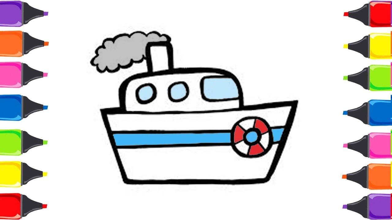 Oyuncak Gemi Boyama Renkleri öğreniyorum Sihirli Kalemler Youtube