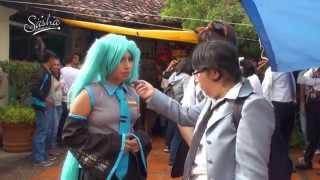 los otakus en la convención de anime comics