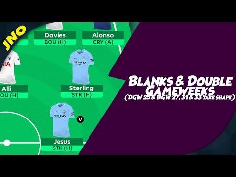 Fantasy Premier League - BLANKS & DOUBLE GAMEWEEKS - EVERTON vs. MAN CITY DGW25 - FPL Gameweek 24 Mp3
