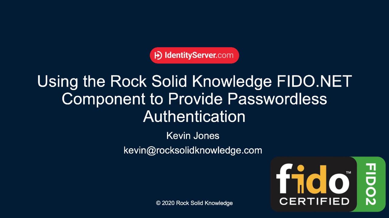 How to Setup FIDO2 for ASP.NET Passwordless Authentication
