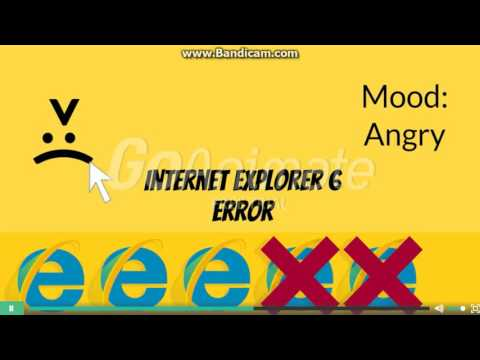 Internet Explorer 6 Error (Barney Error 4)