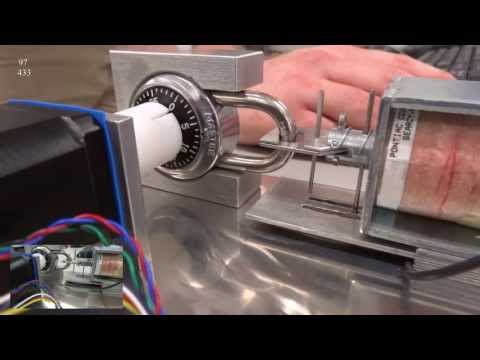 Cracking Combination Lock by Mechatronic Exploit