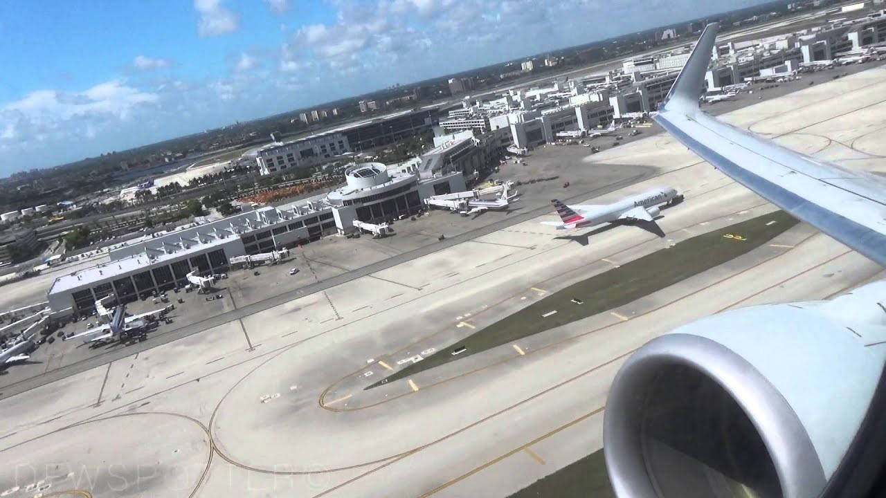 American Airlines 737-800 Takeoff From Miami International ...