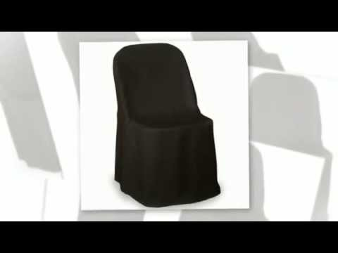 10 Pcs Folding Chair Cover Black White For Wedding