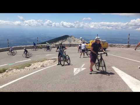 Wild winds at Mont Ventoux the day before the Tour
