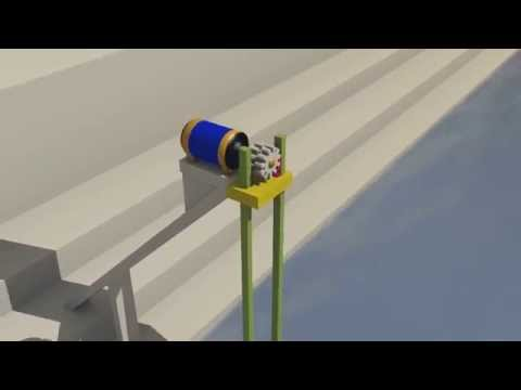 Waves energy - Power of the ocean - animation with 3D program - free energy