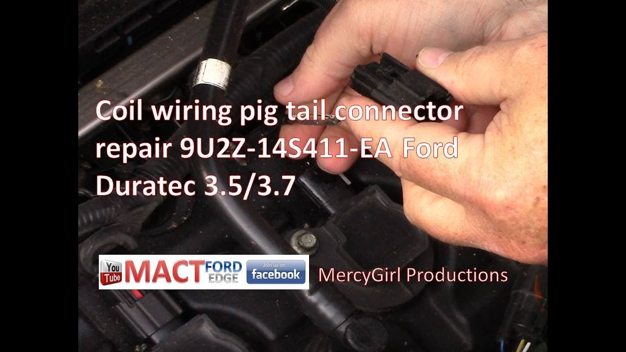coil wiring pig tail connector repair 3 5 3 7 duratec 9u2z 14s411 ea [ 1280 x 720 Pixel ]