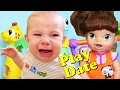 Baby Play Date With Little Tikes Light 'n Go Garden Treehouse & Crazy Baby Alive Lucy DisneyCarToys