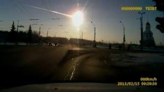 Revelan nuevo video del meteorito de Rusia