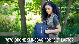"RIVACASE 7870 black Drone Slingbag medium for 13.3"" laptop"