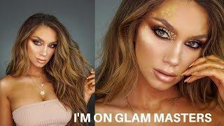 EDITORIAL GOLD CUT CREASE   I'm on GLAM MASTERS, Kim Kardashian's new show!   Julia Dantas