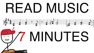 Read Sheet Music in 7 MINUTES! (guitar)