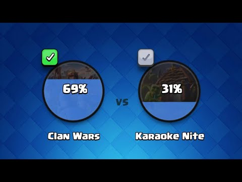 Clash Royale clan wars vs karaoke night