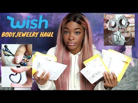 Wish Body Jewelry Haul/Review
