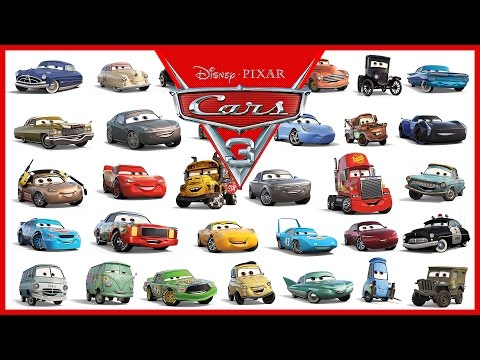 Disney Pixar Cars 3 All Characters Cars Youtube