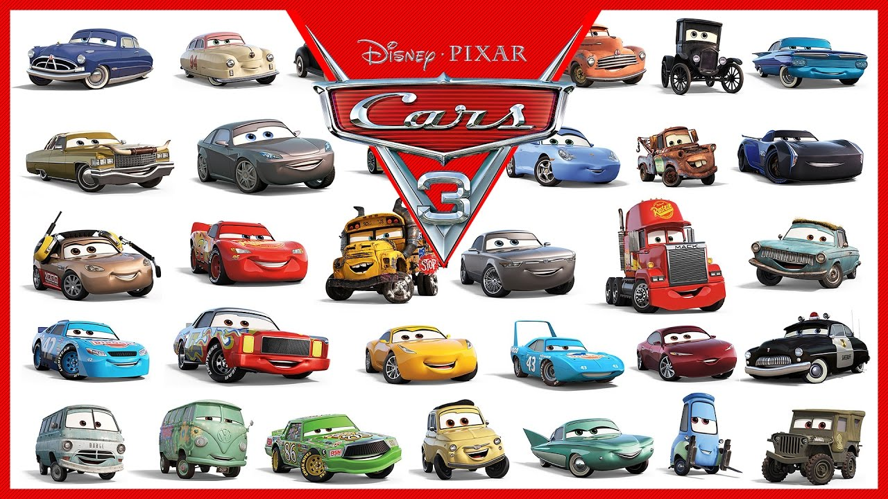 Disney Pixar Cars 3 All Characters Cars 2017 Youtube
