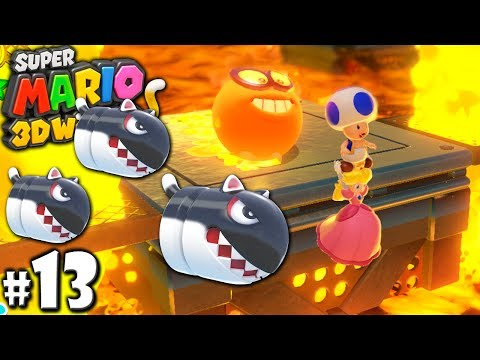 Super Mario 3D World: 2P Co-Op! - Cat Bullet Clash PART 13 (Nintendo Wii U HD Gameplay Walkthrough)