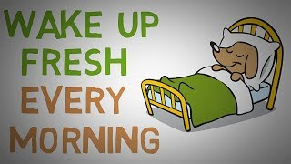 How to STOP Waking Up Feeling TIRED Every Morning - 4 Tips (animated)