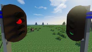 Minecraft real train mod automatic signal system tutorial
