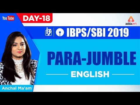 Ibpssbi 2019  Para Jumble  English  Day 18  Anchal Ma'am  10 Am  Youtube