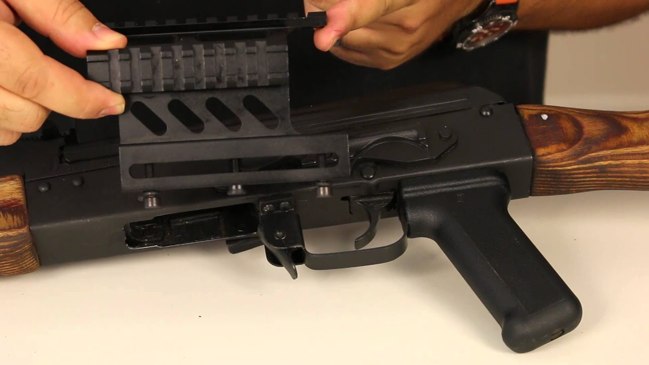 How to attach a scope mount to an AK47 or WASR 10