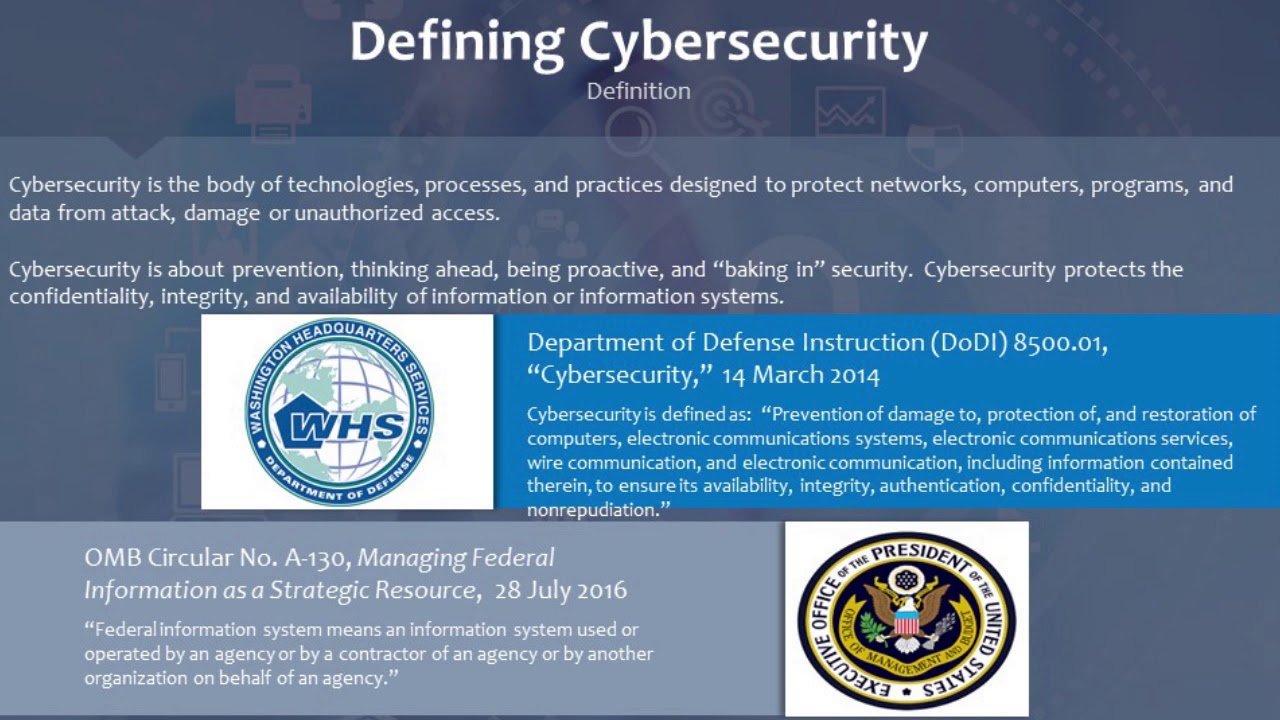 CATO Training Series - Introduction to Cybersecurity in Acquisitions