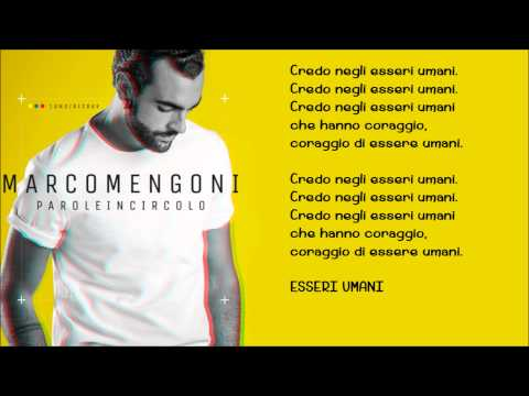 Marco Mengoni - Esseri Umani (Lyrics)