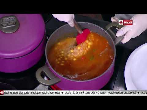 المطبخ - طريقة عمل ( أرز بالصلصة والحمص)