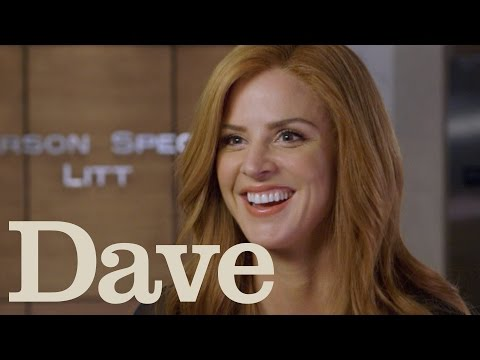 Sarah Rafferty Rapid Fire Questions | Suits Season 5 | Dave ...