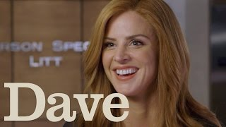 Sarah Rafferty Rapid Fire Questions | Suits Season 5 | Dave