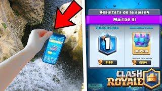 I LOOSE MY IPHONE X IN THE WATER SO I DON'T OF LEGENDARY! Clash Royale