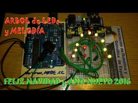 Arbol de LEDs y Melodia - Feliz Navidad y Año Nuevo 2016
