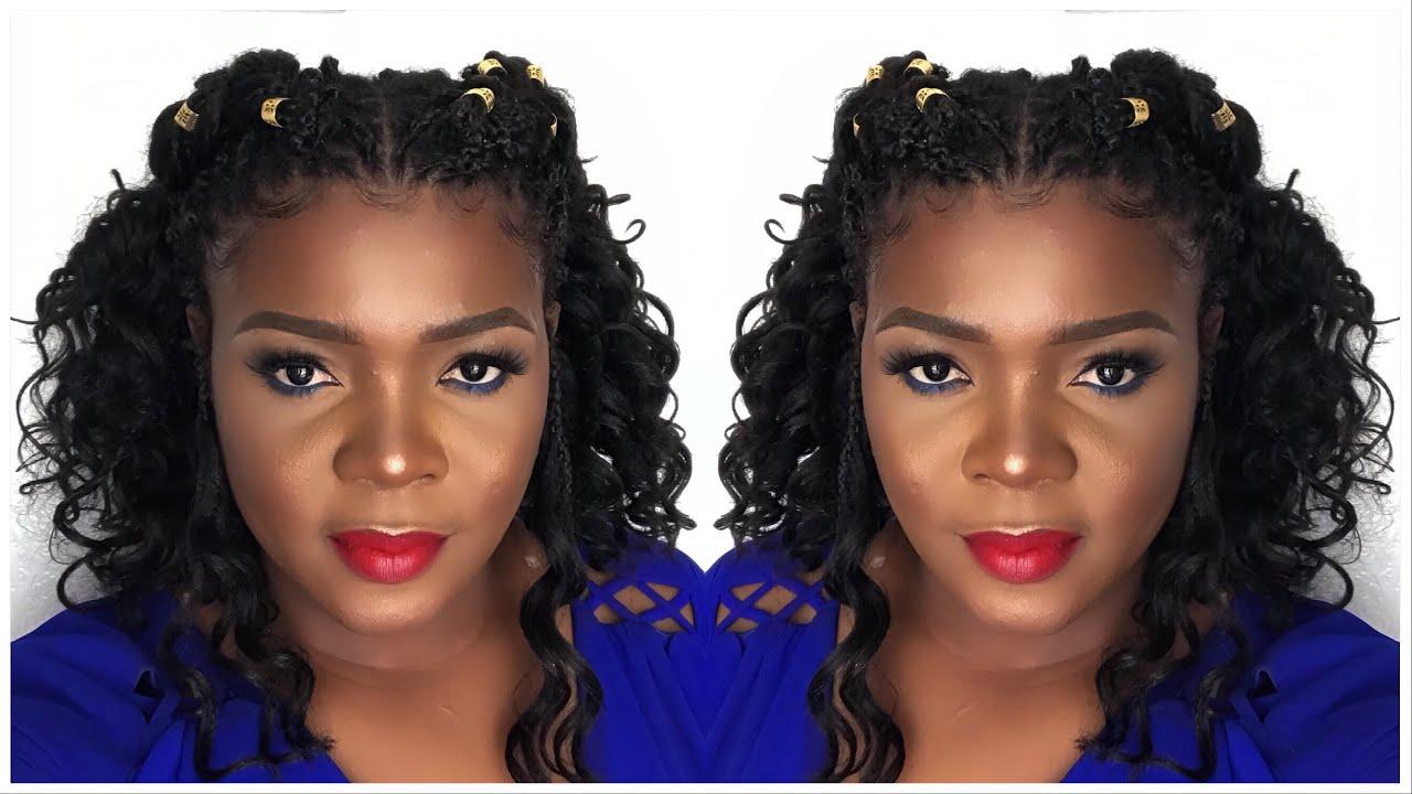 5 Best Ways To Style Curly Individual Tree Braids Pick N Drop Box Braids