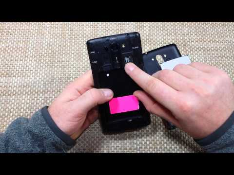 LG G Vista How to Remove Replace & Insert Sim Card, SD Card, Battery & Back Cover Install