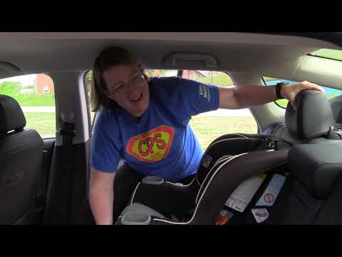 How to install a front facing car seat