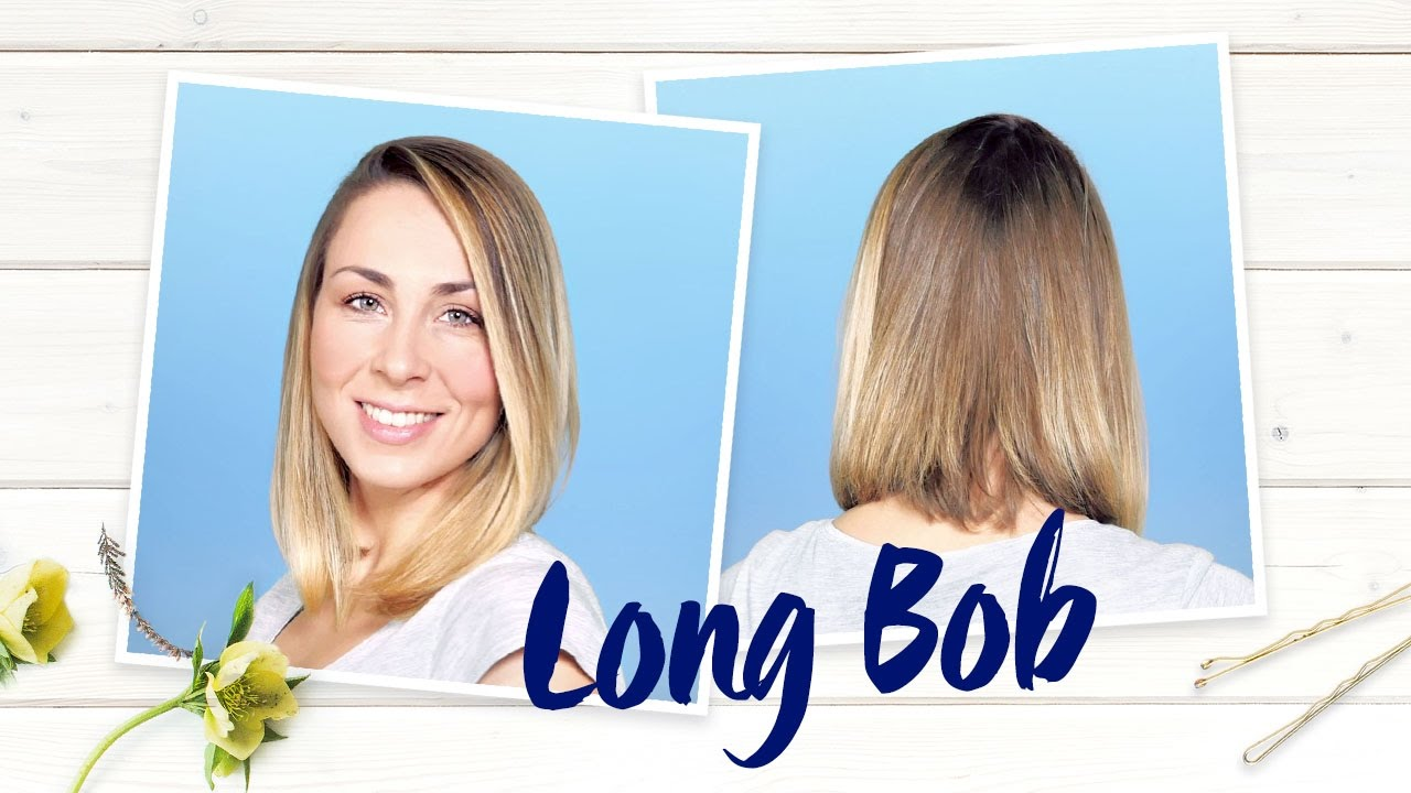Long Bob Nivea Frisuren Tutorial Youtube