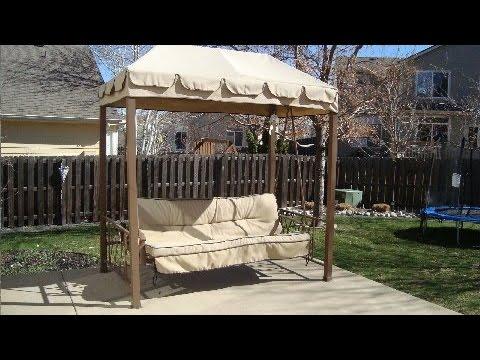Hampton Bay Patio Swing Cushion Cover Replacement Youtube