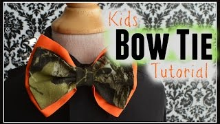 How to make a child size bow tie