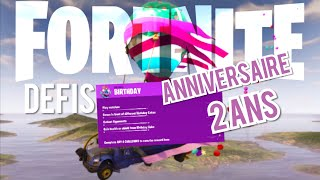 FORTNITE: LIST 2-year anniversary challenges - free rewards!