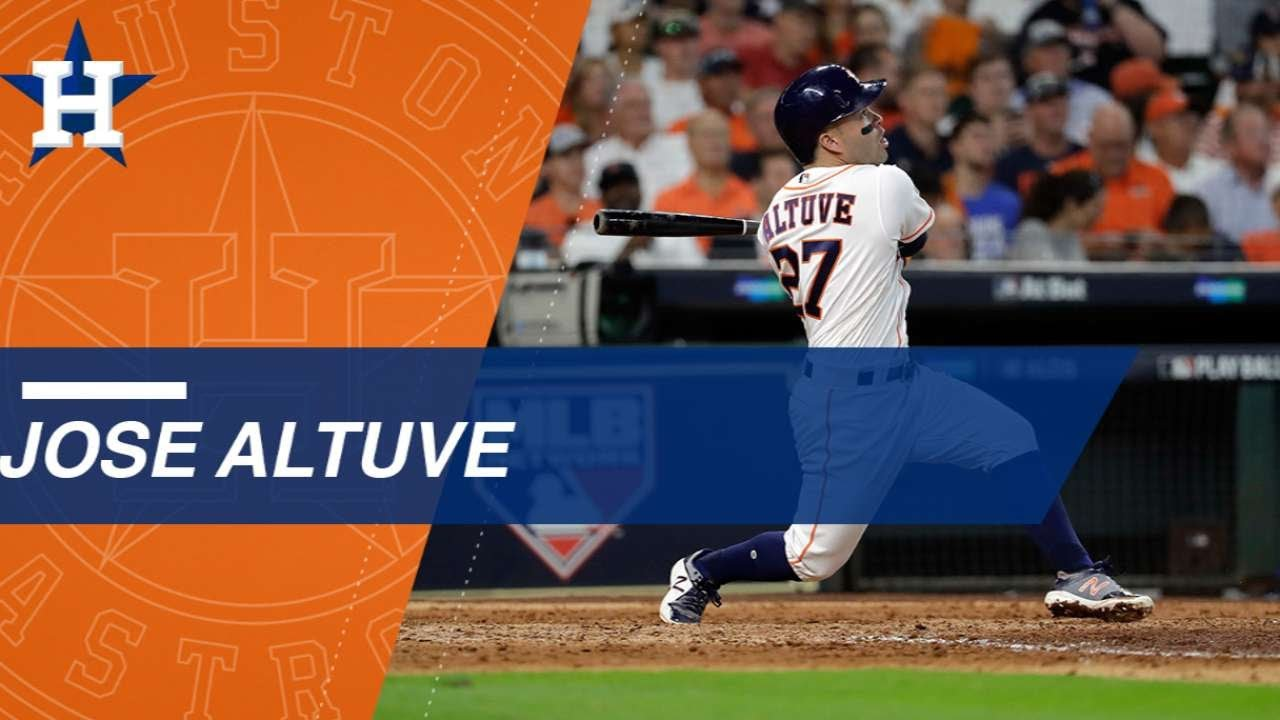 best service 4a398 6731c Watch all of Jose Altuve's hits in the postseason