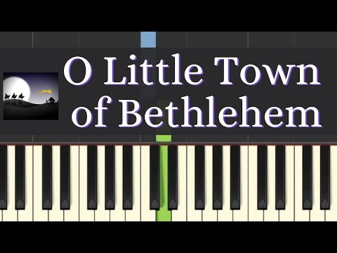 Easy Piano Tutorial: O Little Town of Bethlehem with free piano sheet music