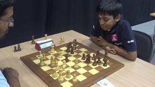 IM Dhulipalla Bala Chandra Prasad - GM Praggnanandhaa Rameshbabu, Blitz chess, London system