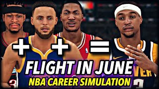 FLIGHTREACTS IN JUNE NBA CAREER SIMULATION | HE WASN'T LYING... OR WAS HE | NBA 2K20