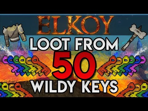 Elkoy : Loot from 50 Wildy Keys : INSANE Profit and Slayer XP (RSPS)