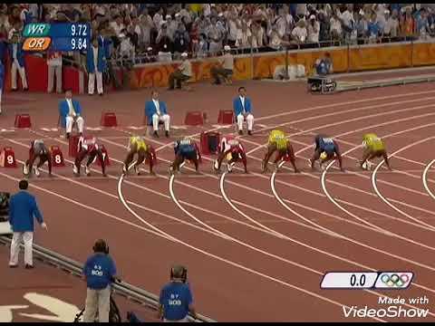 Usain bolt 100m world record Beijing 2008 Olympics - YouTube
