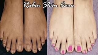 My Style FEET WHITENING PEDICURE - Remove SUN TAN and WHITEN your FEET|Live Result | RABIA SKIN CARE