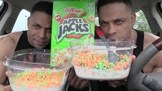 Apple Jacks Cereal Eating Challenge @hodgetwins