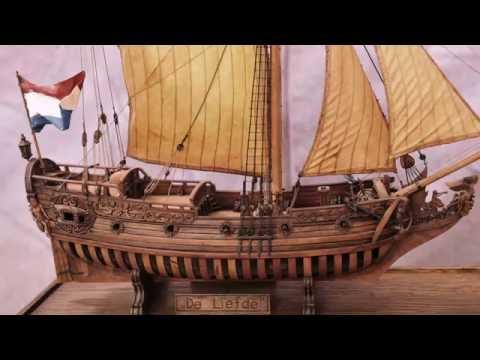видео: Модель Голландской яхты. Автор модели - Саво Вранац